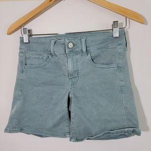 American Eagle Twill Midi Stretch Jean Shorts S